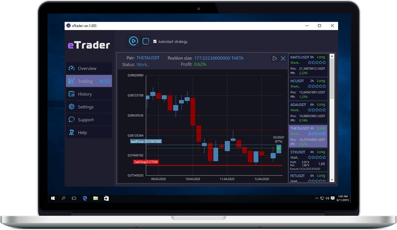 eTrader - программа для автоматической торговли