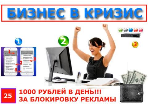 Как получать от 1000 рублей в день за блокировку рекламы