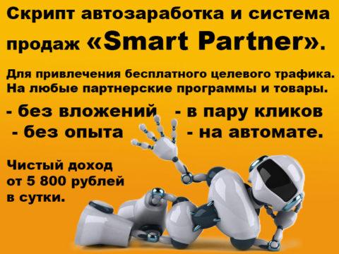 Скрипт автозаработка и система продаж «Smart Partner»