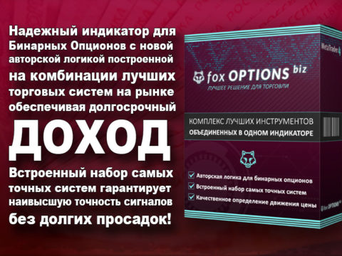 Fox Options Biz – Авторский Индикатор для Бинарных Опционов